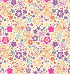 ditsy summer floral vector image