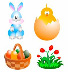 easter clip-art vector image vector image