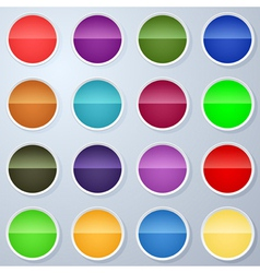 Paper buttons collection vector image vector image