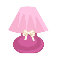 pink colored lamp vector image vector image