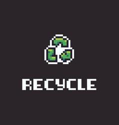 pixel art recycle vector image