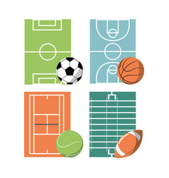 set concept icon court sport vector image vector image