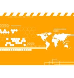 Technology world map backdrop vector