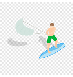 kitesurfing isometric icon vector image
