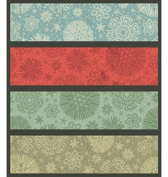 vintage color christmas banners vector image