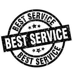 Best service round grunge black stamp vector