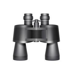 black travel binoculars vector image