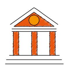 Building with columns icon vector