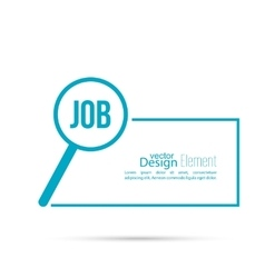 Concept search job vector image vector image