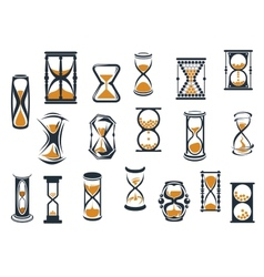 Hourglasses and egg timers set vector image