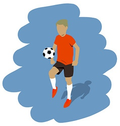 kicking the ball vector image vector image