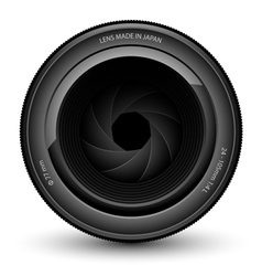 lens vector image vector image