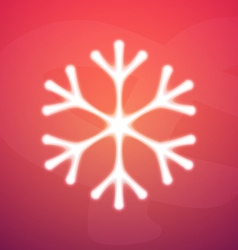 Abstract Snowflake Icon on Colorful Background vector image