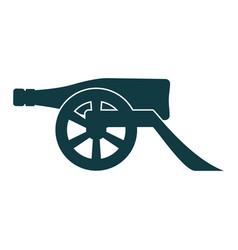 Ancient wine bottle cannon vector