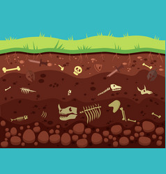 Archeology historic artifacts under ground vector