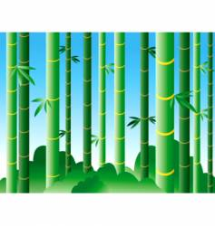 Bamboo forest vector