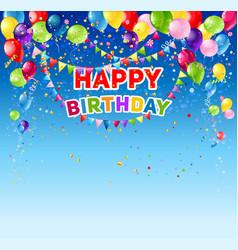 blue happy birthday card vector image