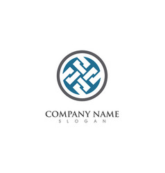Business abstract unity logo design vector