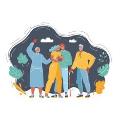 Cartoon happy family vector