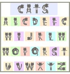 cat alphabet vector image