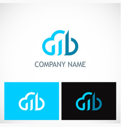 cloud business technology logo vector image vector image