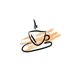 Coffee cup icon Silhouette of cofee cup on vector image
