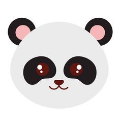 Cute and tender bear panda head character vector