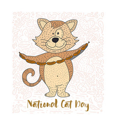 cute of a doodle cat vector image