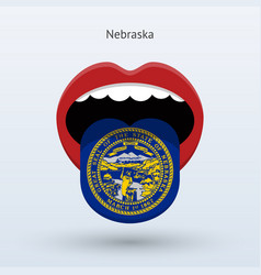 Electoral vote of nebraska abstract mouth vector