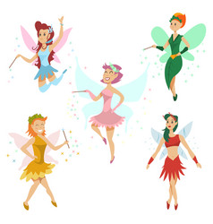 fairy tale cartoon set vector image