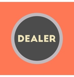 flat icon stylish background poker chip dealer vector image