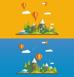 Flat landscapes vector image