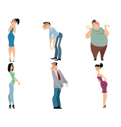 funny characters on white background vector image