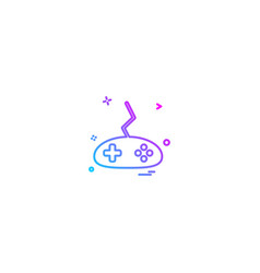 game console icon deisgn vector image