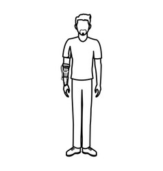 Guy wearing vr headset - virtual reality glasses vector