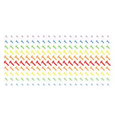 Hammer shape halftone spectral effect vector