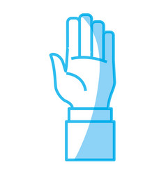 hand number symbol vector image