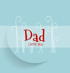 Happy Mothers Day with blue background vector image