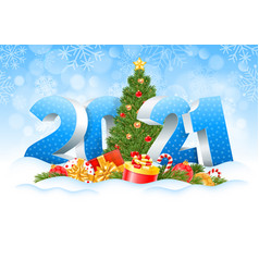 Happy new year 2021 vector