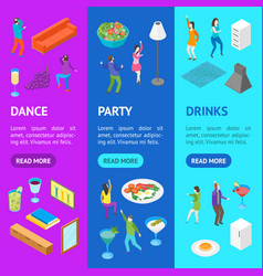 home party concept with furniture and people vector image