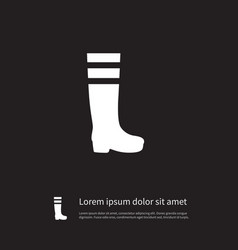 isolated footwear icon gumboots element vector image