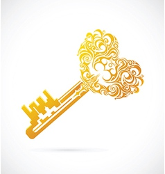 Key with heart shape vector image
