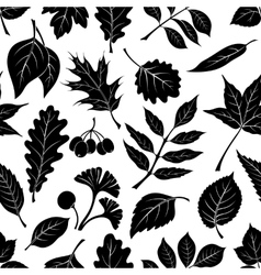 Leaves of plants pictogram seamless vector