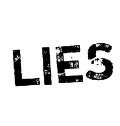 Lies stamp on white vector