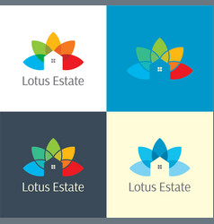 Lotus estate real logo and icon vector