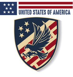 made in usa united states america usa flag vector image