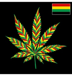 Marijuana Jamaica-background vector