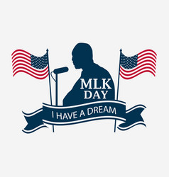 martin luther king day celebratory banner vector image