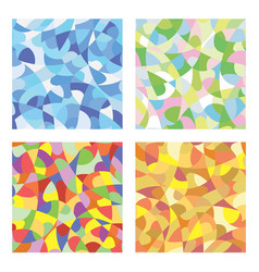 mosaic seasons vector image