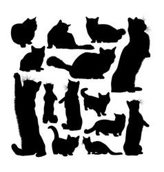 Munchkin cat animal silhouettes vector